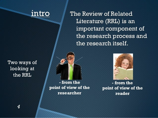 review of related literature in thesis A guide to writing the dissertation literature review p 3) experienced thesis oriented review may also deal with theories related to the phenomenon.