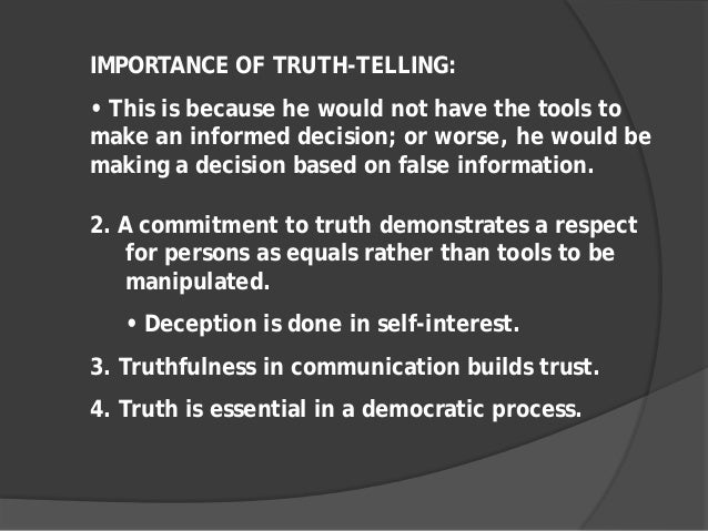 importance of truth essay