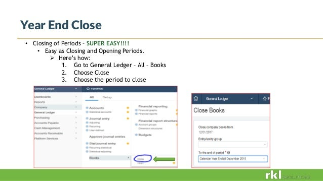 Sage Intacct Year end 2018 Processing