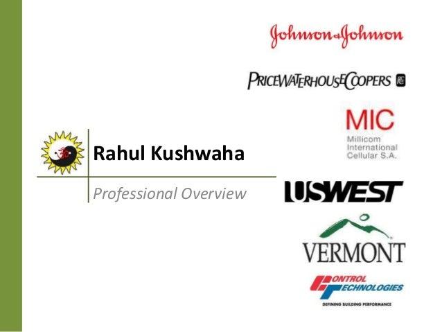 Rahul Kushwaha Professional Overview