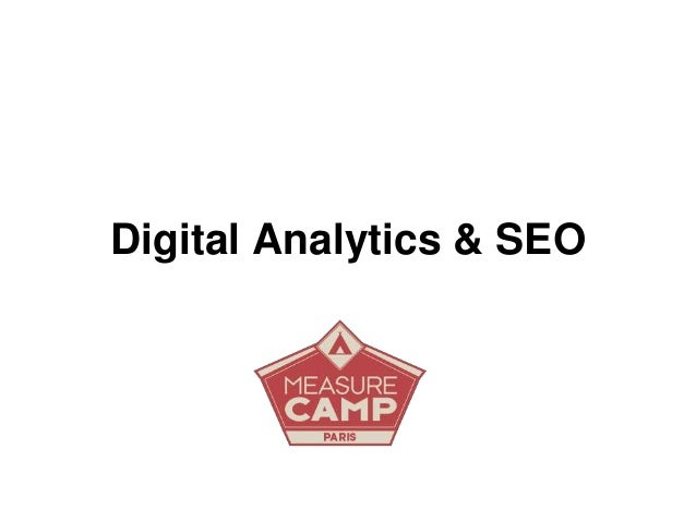 Digital Analytics & SEO
