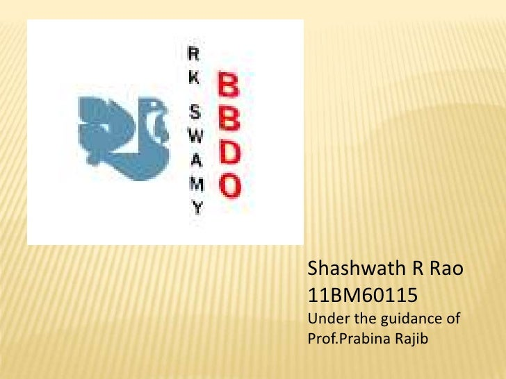 Shashwath R Rao11BM60115Under the guidance ofProf.Prabina Rajib