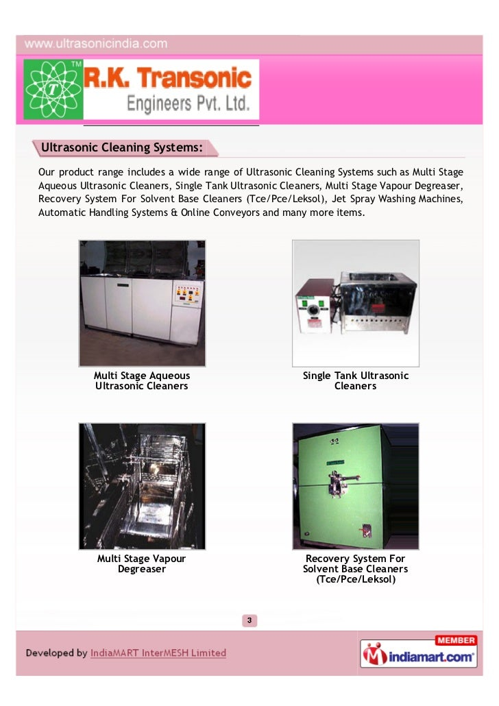 R K Transonic Engineers Pvt Ltd Noida Ultrasonic