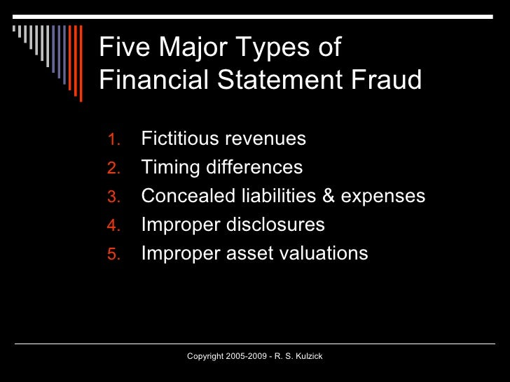 Fraud Cases In Auditing