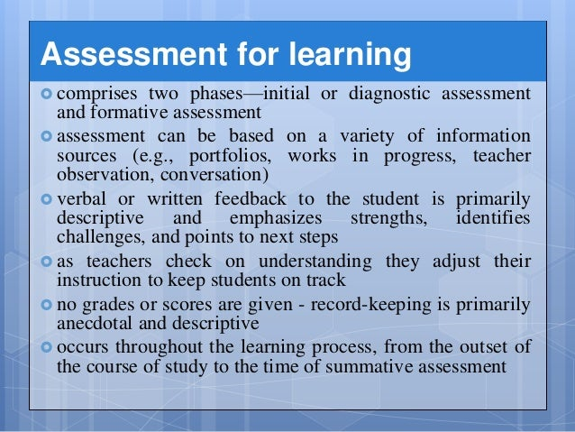 ptlls explain the need for keeping records of assessment of learning Initial assessment ptlls  and ways to promote inclusion explain the need for record keeping and  assessment for learning vs assessment of.