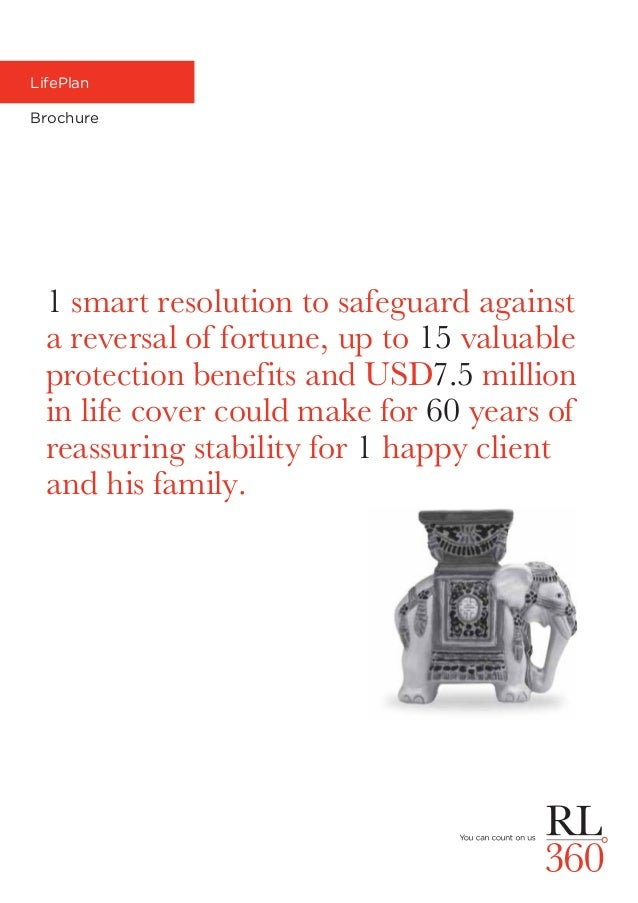 LifePlan Brochure 1 smart resolution to safeguard against a reversal of fortune, up to 15 valuable protection benefits and...