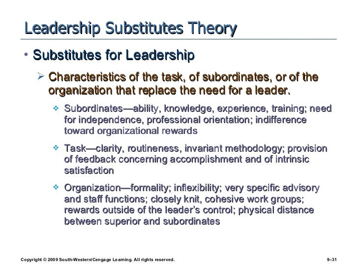 leadership substitutes theory