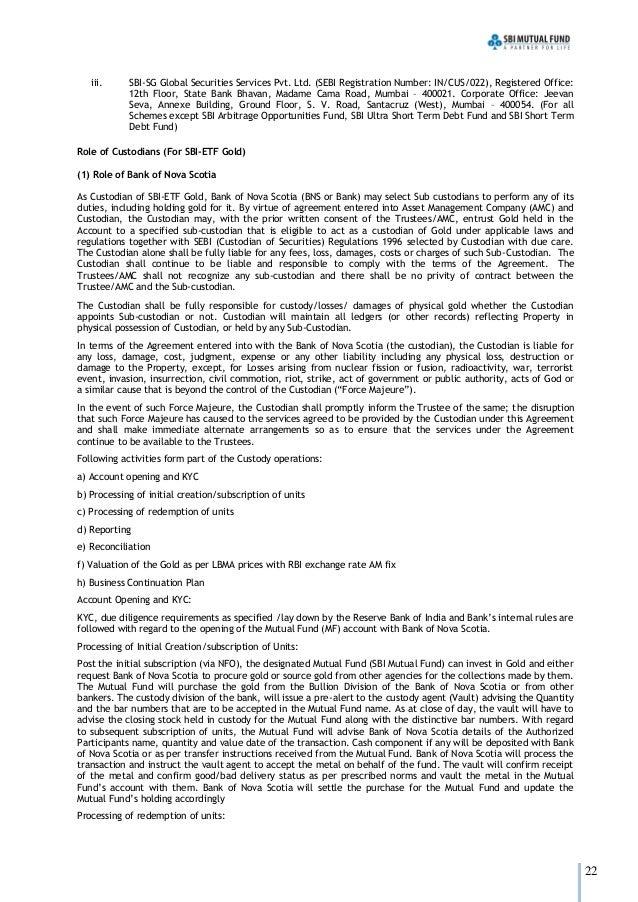 Additional Information of SBI Mutual Fund- Wishfin