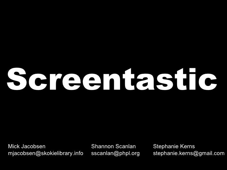 Introduction to Screencasting for Librarians