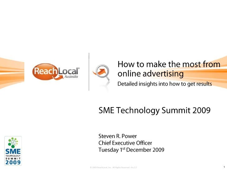 How to make the most from online advertising <br />Detailed insights into how to get results<br />SME Technology Summit 20...