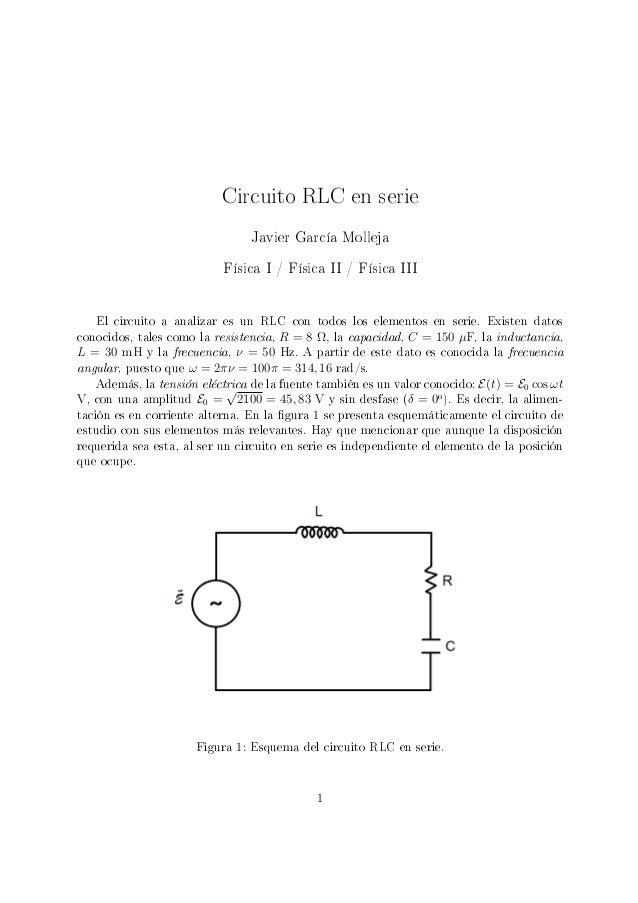 Circuito Rlc Serie : Circuito rlc en serie