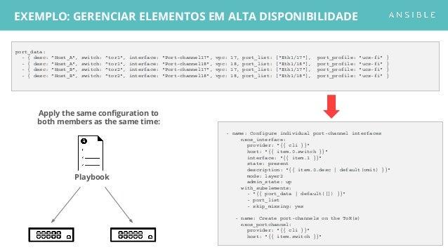 Apply the same configuration to both members as the same time: EXEMPLO: GERENCIAR ELEMENTOS EM ALTA DISPONIBILIDADE port_d...