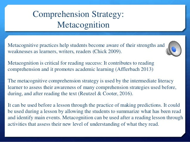 Defining Comprehension Strategies And Instructional Strategies