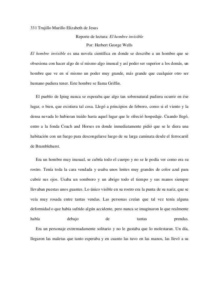 331 Trujillo Murillo Elizabeth de Jesus                          Reporte de lectura: El hombre invisible                  ...