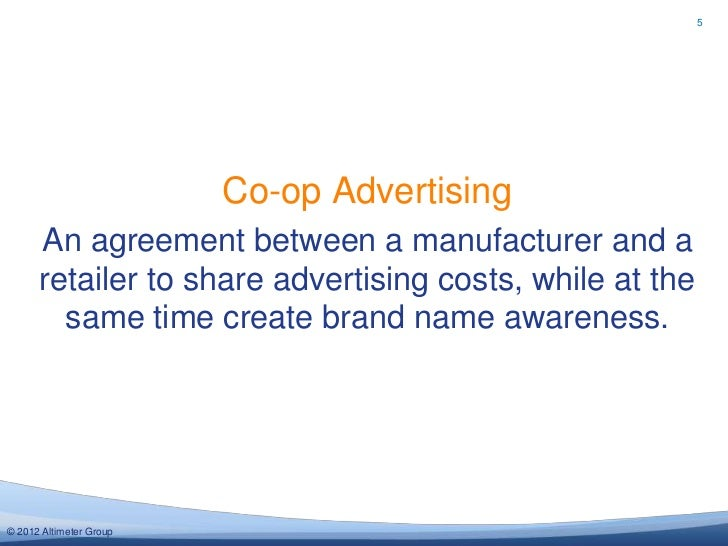 5 Co Op Advertising An Agreement