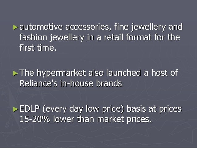 ►automotive accessories, fine jewellery and  fashion jewellery in a retail format for the  first time.  ►The hypermarket a...
