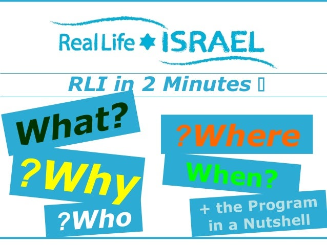 RLI in 2 Minutes  + the Program in a Nutshell Where? When? What? Who? Why?