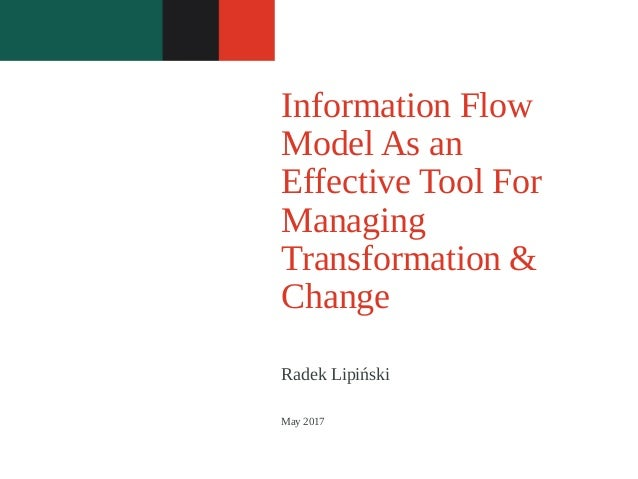 Radek Lipiński Information Flow Model As an Effective Tool For Managing Transformation & Change May 2017