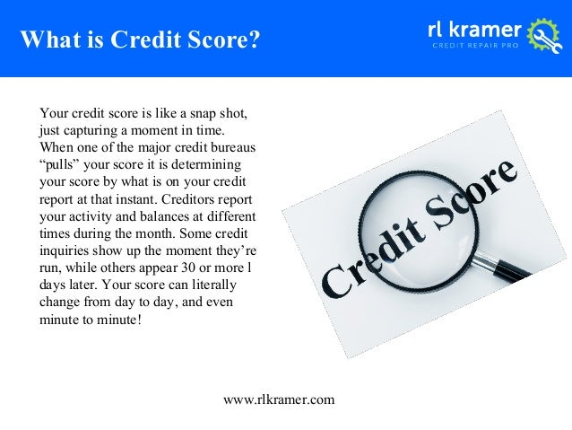3 what is credit score