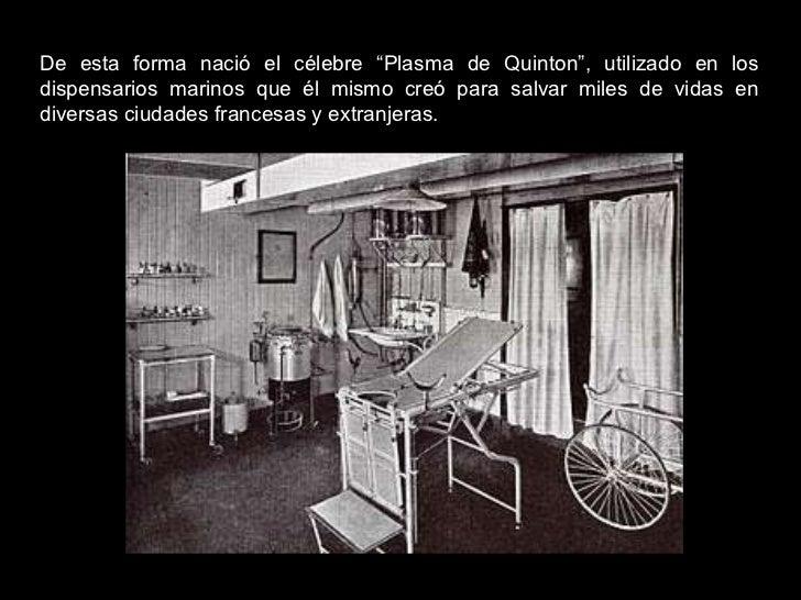 """De esta forma nació el célebre """"Plasma de Quinton"""", utilizado en los dispensarios marinos que él mismo creó para salvar mi..."""