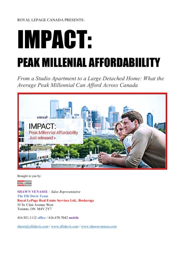 Royal LePage presents: IMPACT - Peak Millennial Affordability
