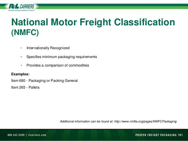 How to package freight 101 National motor freight classification nmfc