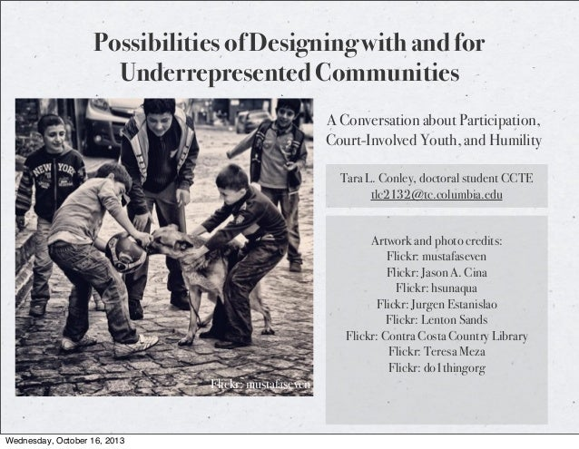 Possibilities of Designing with and for Underrepresented Communities A Conversation about Participation, Court-Involved Yo...