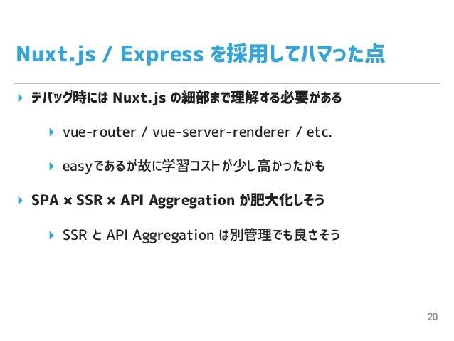 Nuxt jsとExpressでSPA×SSR×API Aggregationを実現した話
