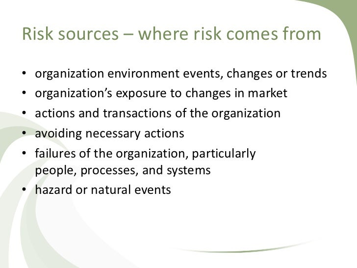 History of risk