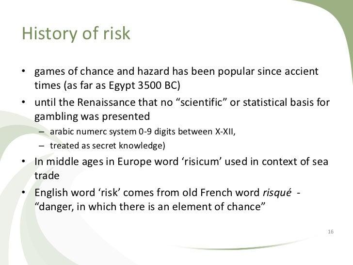 History of risk (III)• In XX modern probability theory by Andrey Nikolaevich  Kolmogorov• In XX risk introduced into finan...