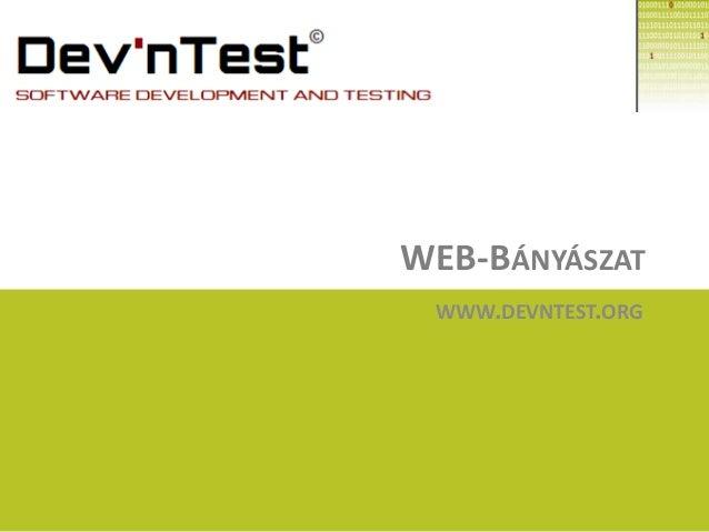 WEB-BÁNYÁSZAT WWW.DEVNTEST.ORG
