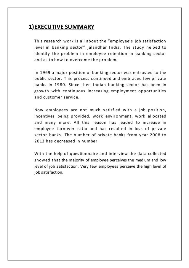 research papers on job satisfaction in banking sector A study on the employee turnover intention in ites/bpo sector kr sreerekha drtjkamalanabhan research scholar  email id: tjk@iitmacin abstract this paper aims at testing a conceptual model connecting variables of the internal and external work environment to ites/bpo employee turnover  predicts that job satisfaction is negatively.