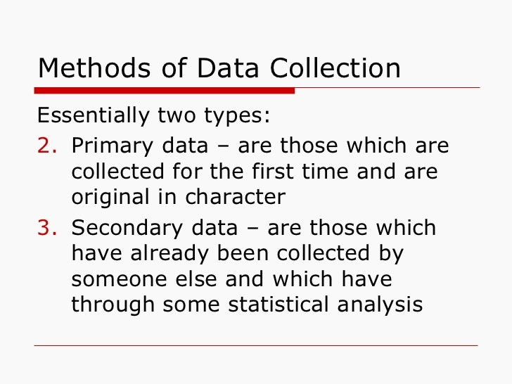 sources of data collection Data collection is an important aspect of any type of research study inaccurate data collection can impact the results of a study and ultimately lead to invalid results.