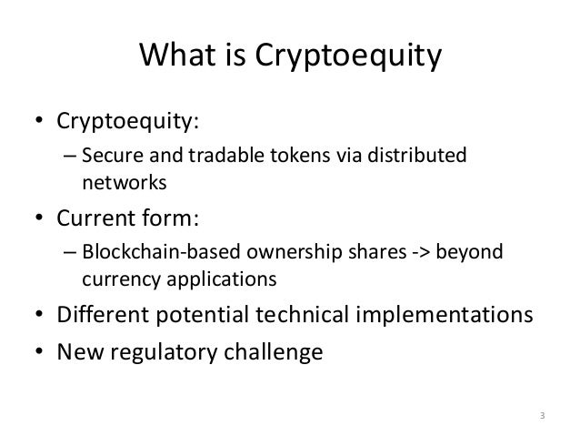 With equity tokens via
