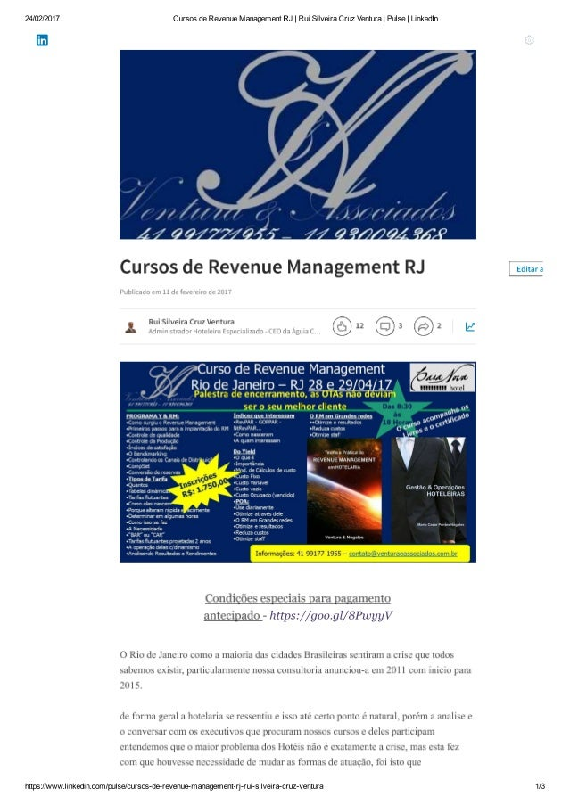 Revenue Management Especial - RJ