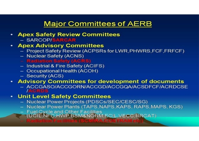 2. TYPES OF EMERGENCIES AND BASIC RESPONSIBILITIES AERB SAFETY GUIDE NO. AERB/SG/G-5