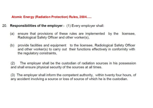 AERB SAFETY GUIDE NO.AERB/SG/O-6