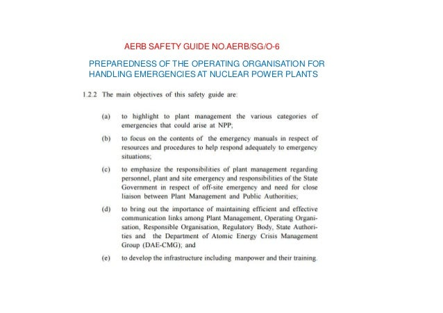 CRITERIAFORPLANNING,PREPAREDNESSANDRESPONSE FORNUCLEARORRADIOLOGICALEMERGENCY AERBSAFETYGUIDELINESNO.AERB/NRF/SG/EP-5(Rev....