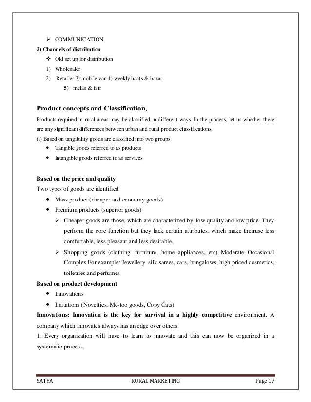 SATYA RURAL MARKETING Page 17 COMMUNICATION2) Channels of distribution Old set up for distribution1) Wholesaler2) Retail...