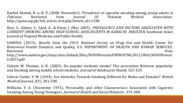 case study on smoking among youth Volume title: risky behavior among youths: an economic analysis volume   interesting case studies of communities that implemented tough youth.