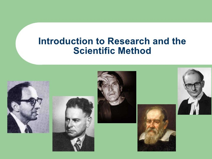 introduction to the scientific method The scientific method may seem ominous and confusing, but really simply put, it's just a way of asking a question and then finding an answer to that question.