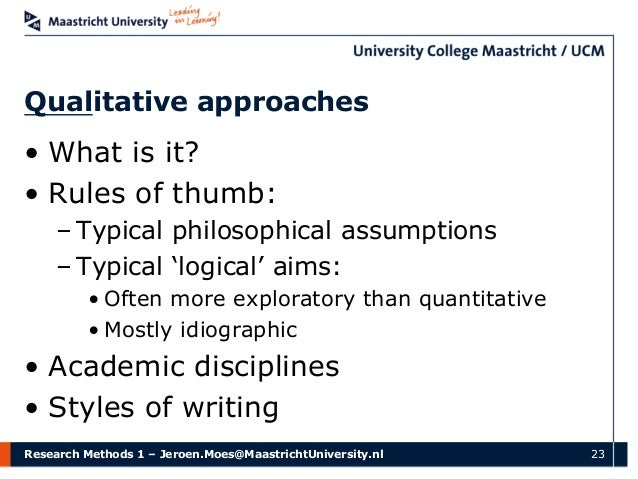 assumptions in quantitative research Assumptions, limitations and delimitations note: - it's best if you can discuss how you plan to verify your assumptions if correlational or causal research title: dissertation assumptions, limitations, delimitations author.
