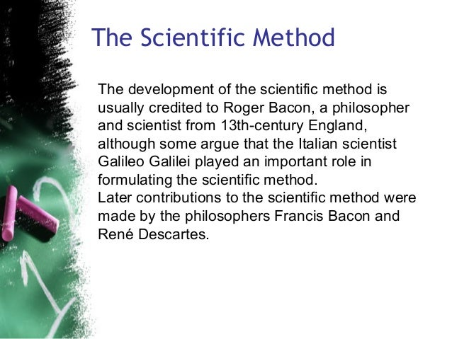 the sight of science according to galileo galilei francis bacon and rene descartes 732: prophets of a scientific civilization: bacon and descartes chapter 7: the scientific view of the world scientific revolution descartes.