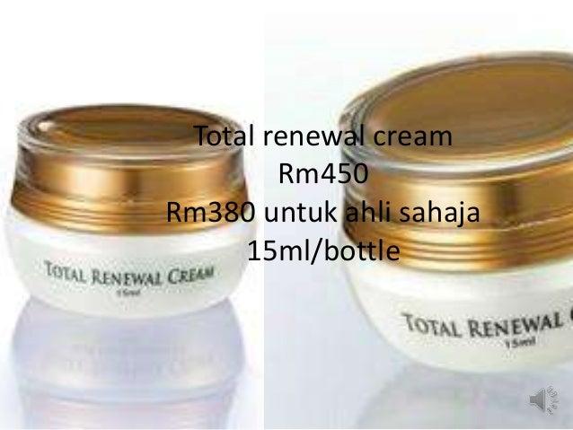 Total renewal cream Rm450 Rm380 untuk ahli sahaja 15ml/bottle