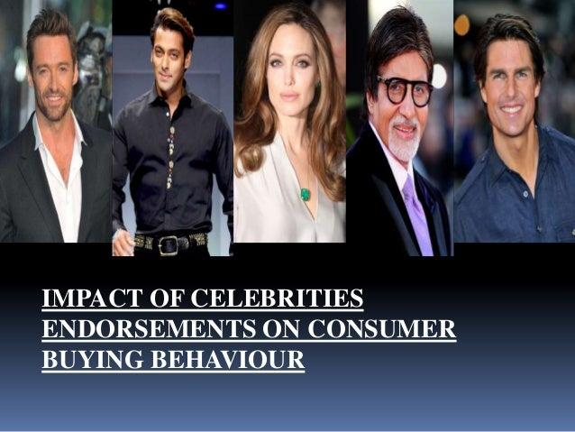 impact of celebrity endorsement on consumer A grand project on impact of celebrity endorsement on consumer buying behavior with respect to soft drinks prepaid by.