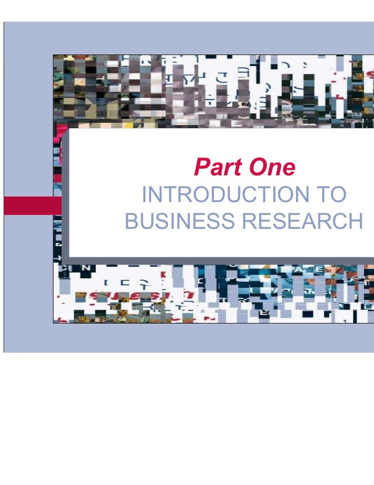 Part One       INTRODUCTION TO      BUSINESS RESEARCH3-1