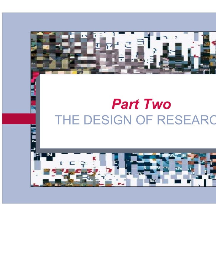 Part Two      THE DESIGN OF RESEARCH6-1