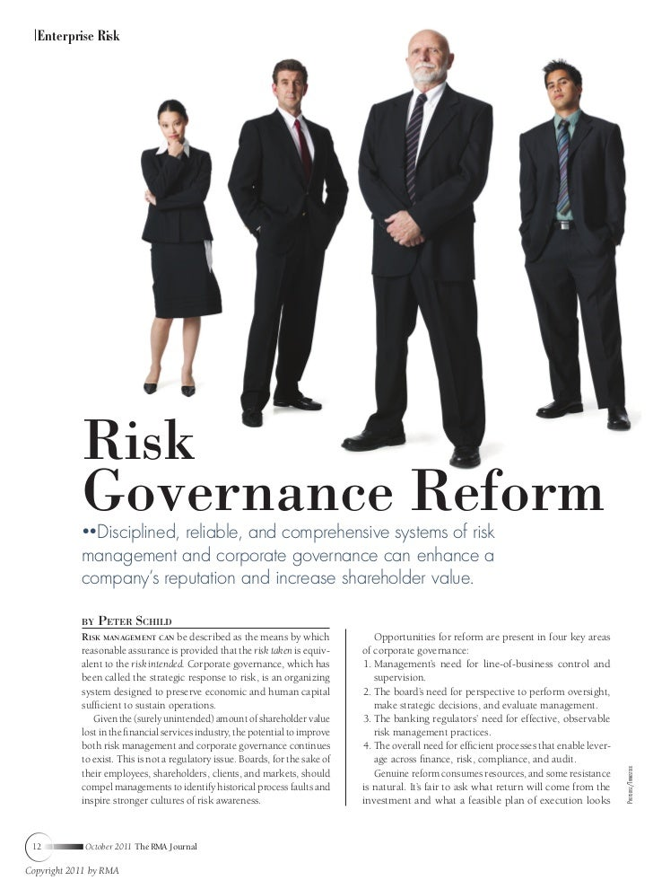 Enterprise Risk            Risk            Governance Reform              Disciplined, reliable, and comprehensive systems...