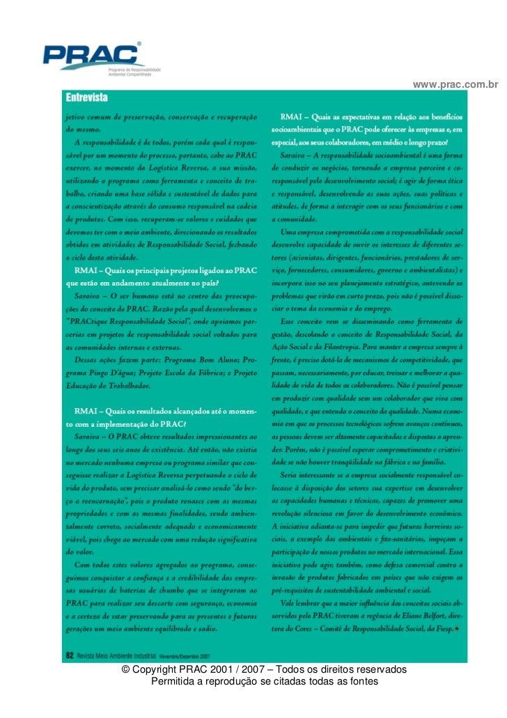 PRAC é sinônimo de sucesso no mercado ambiental brasileiro Slide 3