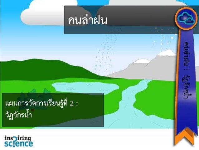 คนล่าฝน คนล่าฝน:วัฏจักรน้า แผนการจัดการเรียนรู้ที่ 2 : วัฏจักรน้า